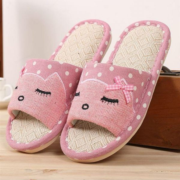 Pantuflas Cat Couple Rosadas