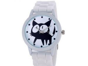 Reloj Gatito Cartoon Blanco