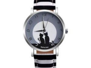 Reloj pareja gatitos rayas