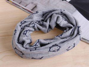 Bufanda gatitos niños gris