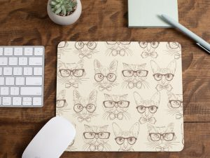 Mouse pad gato hipster