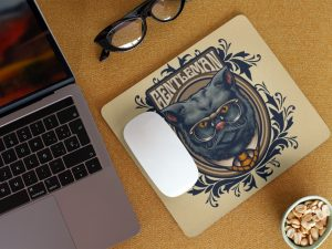 Mouse pad gentleman cat