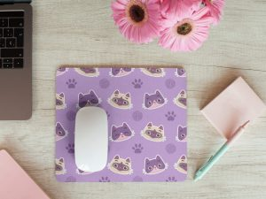 Mouse pad gatos purpuras